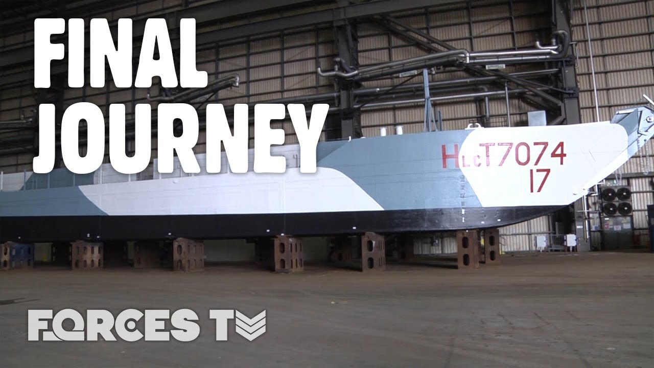 D-Day's LAST SURVIVING Tank Landing Craft Makes Its FINAL Journey!   Forces TV