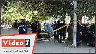 مدير أمن الجيزة يصل موقع انفجار شارع الهرم.. ويوجه بدقة تمشيط المكان