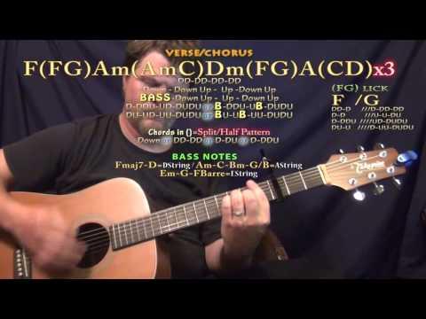 Spectrum (ZEDD) Guitar Lesson Chord Chart - Capo 3rd