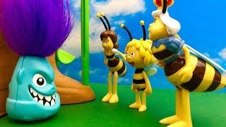 Potworek i Pszczółka Maja  Jaki wielkie Pszczoły  Bajka dla dzieci PO POLSKU