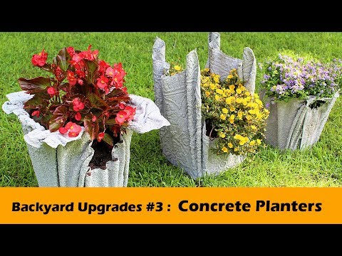 Concrete Planter DIY ~ Backyard Upgrades #3
