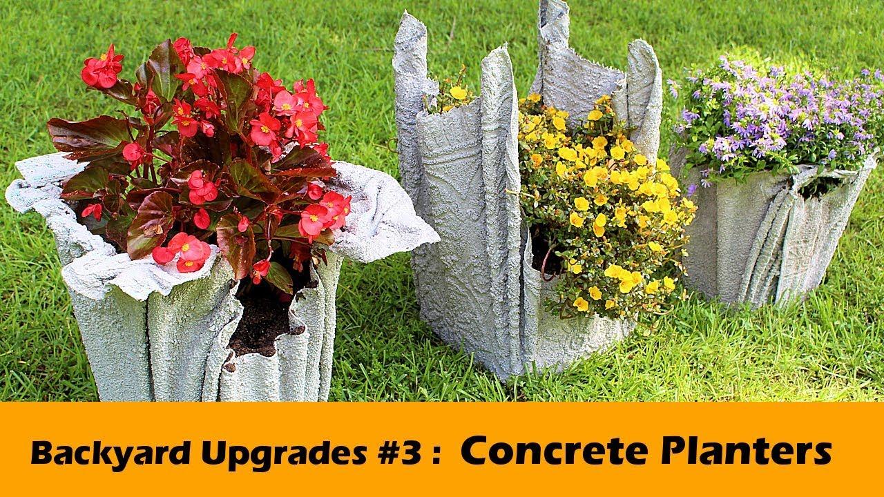 stunning concrete planter diy backyard upgrades 3