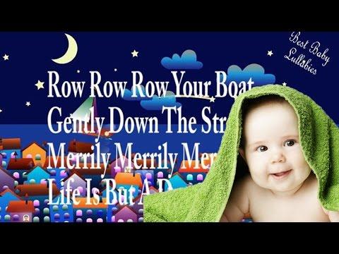 Row Row Row Your Boat Lyrics Baby Lullaby Songs Lyrics  Lullabies For Babies To Go To Sleep Music