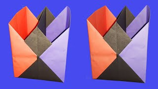 Quick Tutorial: DIY Handmade Origami-How to Make Pen Stand -Paper Pencil Holder | Beautify Crafts