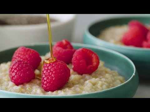 Steel Cut Oats with Raspberries and Chia Seeds  | recipe by chef Julia Nordgren, M.D.