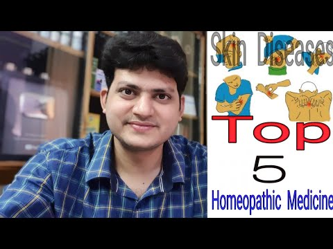 Top 5 Homeopathic Medicine For Skin Disease ?