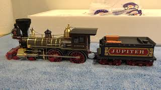 Lionel Promontory Summit Brass Hybrid Engines - C.P. Jupiter \u0026 U.P. 119 And Coach Cars.