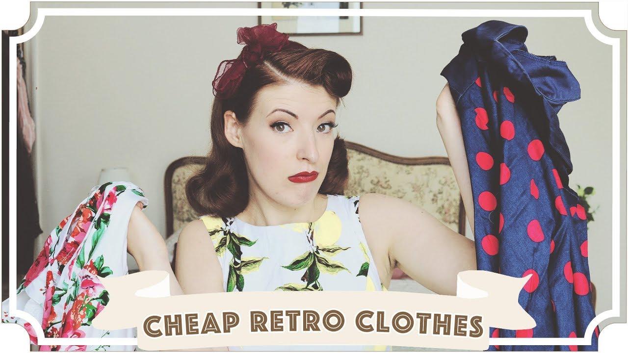 98d3350768e Cheap Vintage Retro Clothes  Is It Worth It   CC  - YouTube