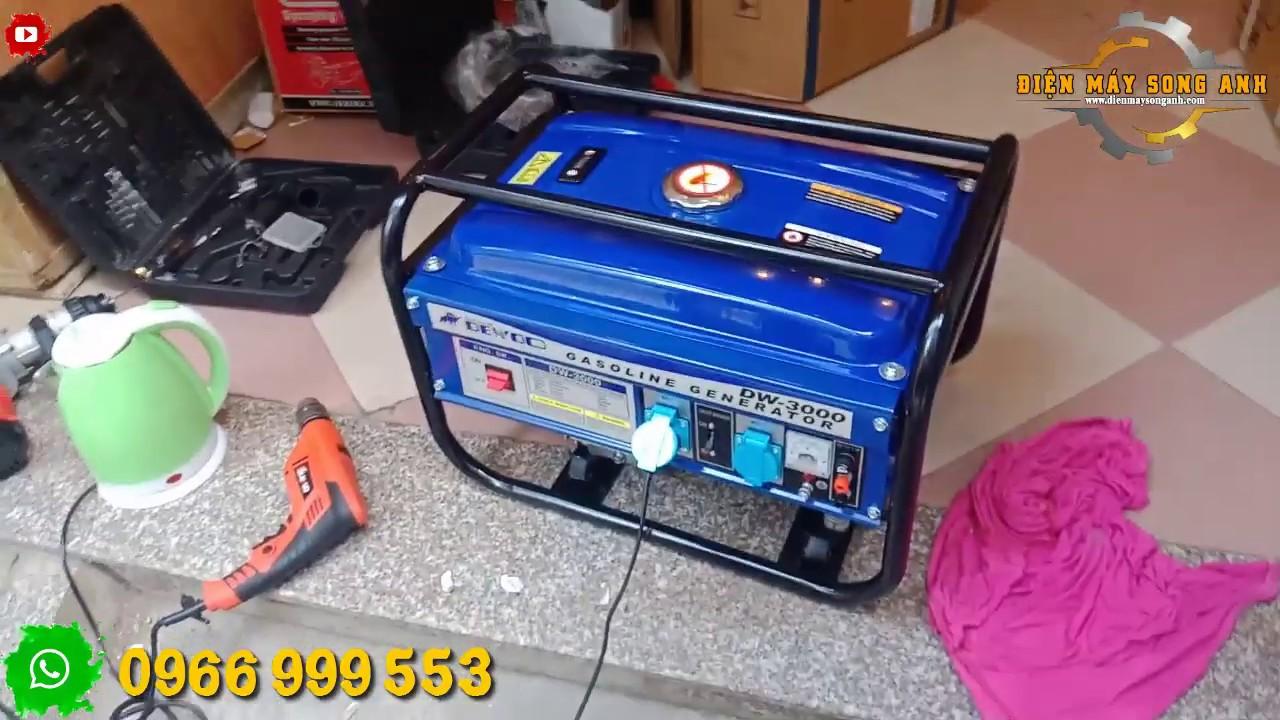 Máy phát điện Dewoo DW-3000 Siêu chống ồn gia đình 3kw chạy xăng