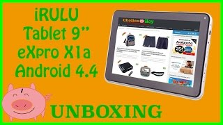 unboxing irulu tablet 9 pulgadas expro x1a con android 4 4 kitkat