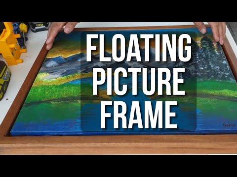 DIY Floating Picture Frame