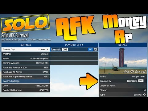 NEW! 💸 Solo AFK Money & RP Job 💸 Made by Me! | Lots of Money & RP for doing nothing! | GTA 5 Online