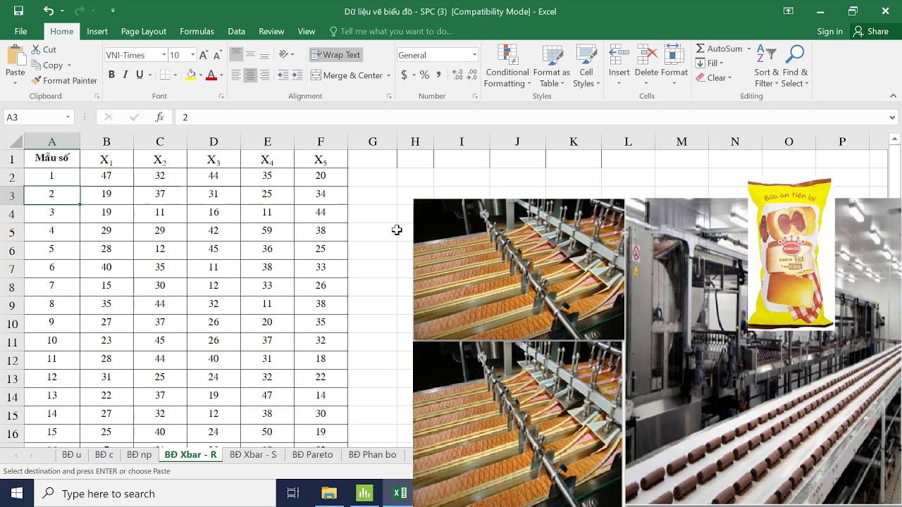 Hướng dẫn sử dụng phần mềm Minitab để vẽ biểu đồ kiểm soát (Control chart)