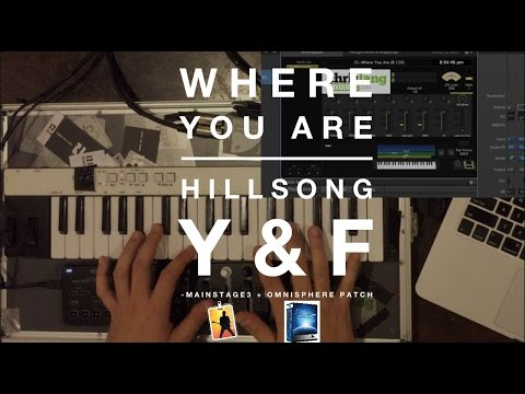 Where You Are - Hillsong Young and Free Mainstage Patch Keyboard Demo