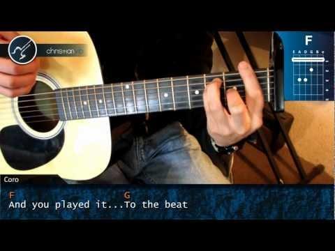 Cómo tocar Rolling In the Deep de Adele en Guitarra HD Tutorial  Christianvib