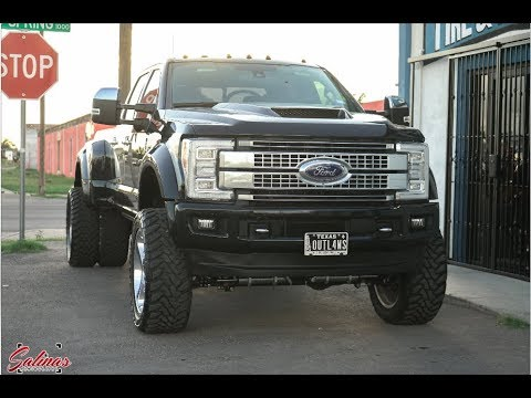 Dodge Dually Conversion Kit >> HUGE F450 with 22 inch Super Singles, CUSTOM HOOD and a 6 inch HEAVY DUTY LIFT KIT! - YouTube