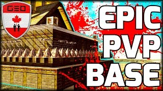 EPIC PVP Base Tour | BEST RAID PROOF DESIGN!?!? Day 879 (7 Days To Die)