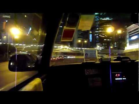 Night Driving in HONG KONG