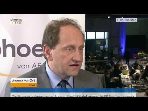 Bundesparteitag FDP: Alexander Graf Lambsdorff im Interview am 29.04.2017
