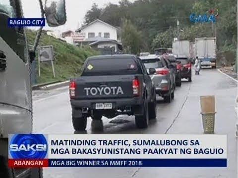 Saksi: Matinding traffic, sumalubong sa mga bakasyunistang paakyat ng Baguio