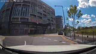 회전교차로 통행방법 위반 (블랙박스)