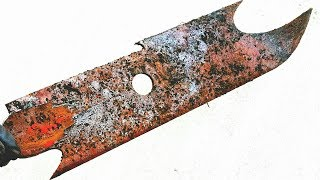Restoration rusty old ancient sword - Restore the sword of the barbarian
