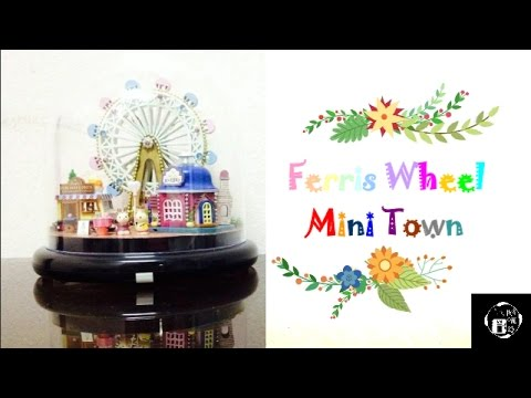 [CRAFT] Watch Yui Makes From Scratch : FERRIS WHEEL MINI TOWN MUSIC BOX + TABLE LAMP + DECORATION