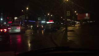 "ДТП на Марашал Казакова - столкновение двух легковушек на повороте к ""Юноне"""