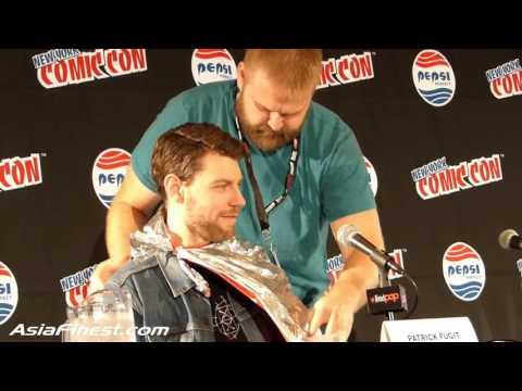 Robert Kirkman hilarious talks about Partrick Fugit name OutCast TV Panel New York Comic Con 2015
