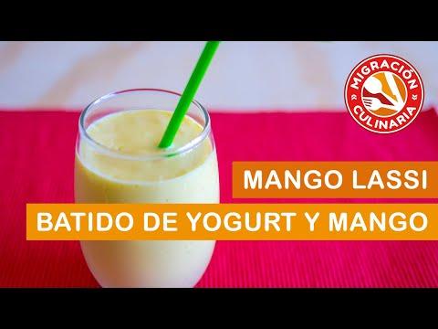 Lassi de Mango o batido de yogur y mango