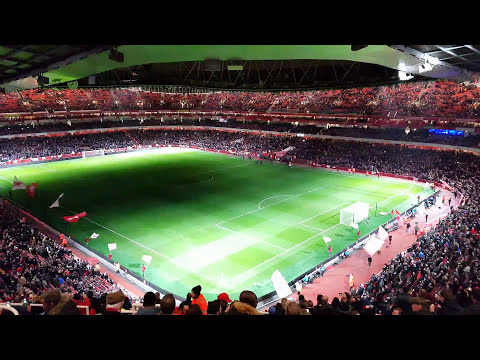 Arsenal - Chelsea Light Show at Emirates Stadium