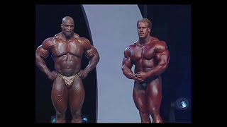 MR OLYMPIA 2006 finally Jay cutler beats Ronnie coleman