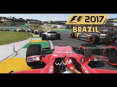F1 2017 Gameplay - Brazil 50% Race as Sebastian Vettel