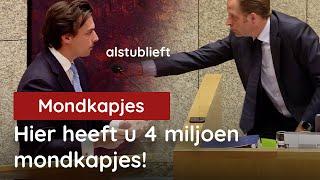 Thierry Baudet Regelt 4 Miljoen Mondkapjes Tijdens Debat