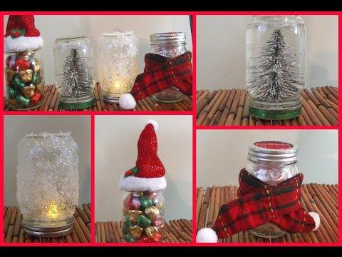 ❄ 4 DIY Holiday Mason Jar Room Decorations + Gift Ideas! ❄