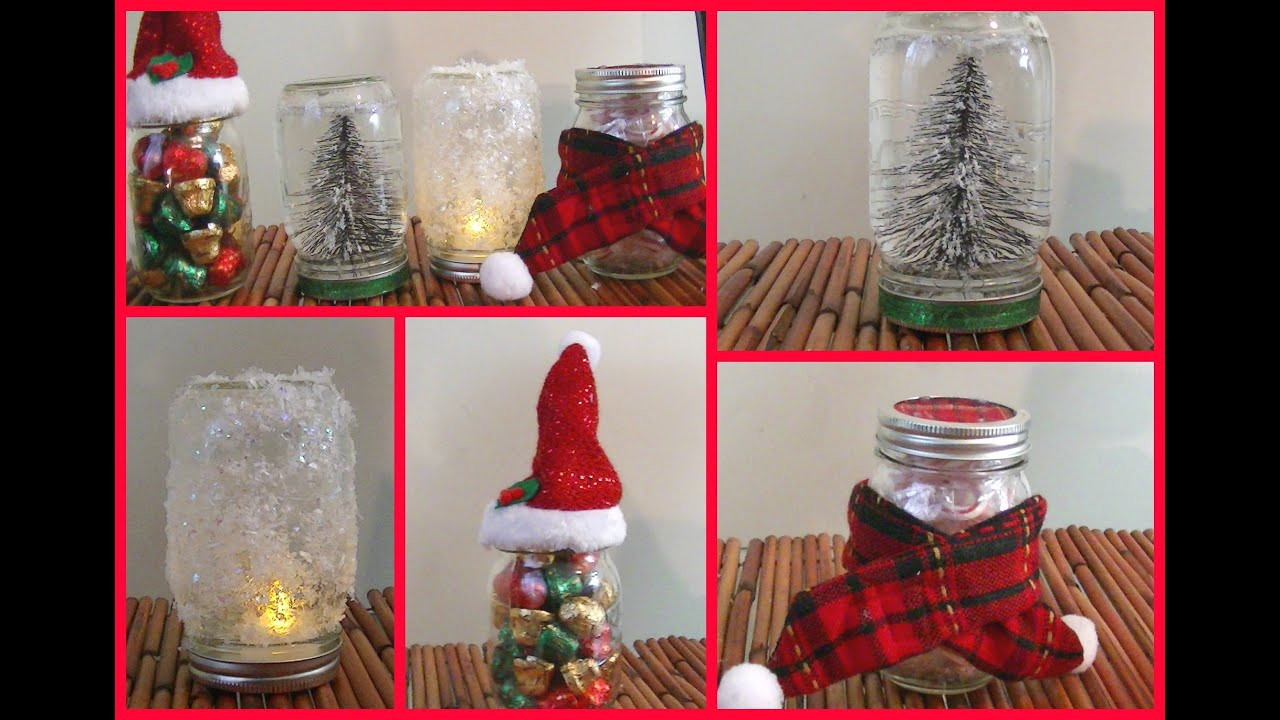 4 diy holiday mason jar room decorations gift ideas youtube - Christmas Jar Decorations
