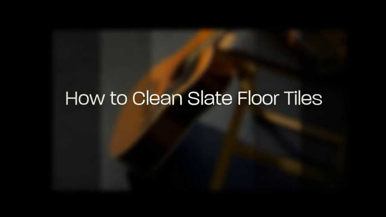How to clean slate floor tiles youtube dailygadgetfo Images