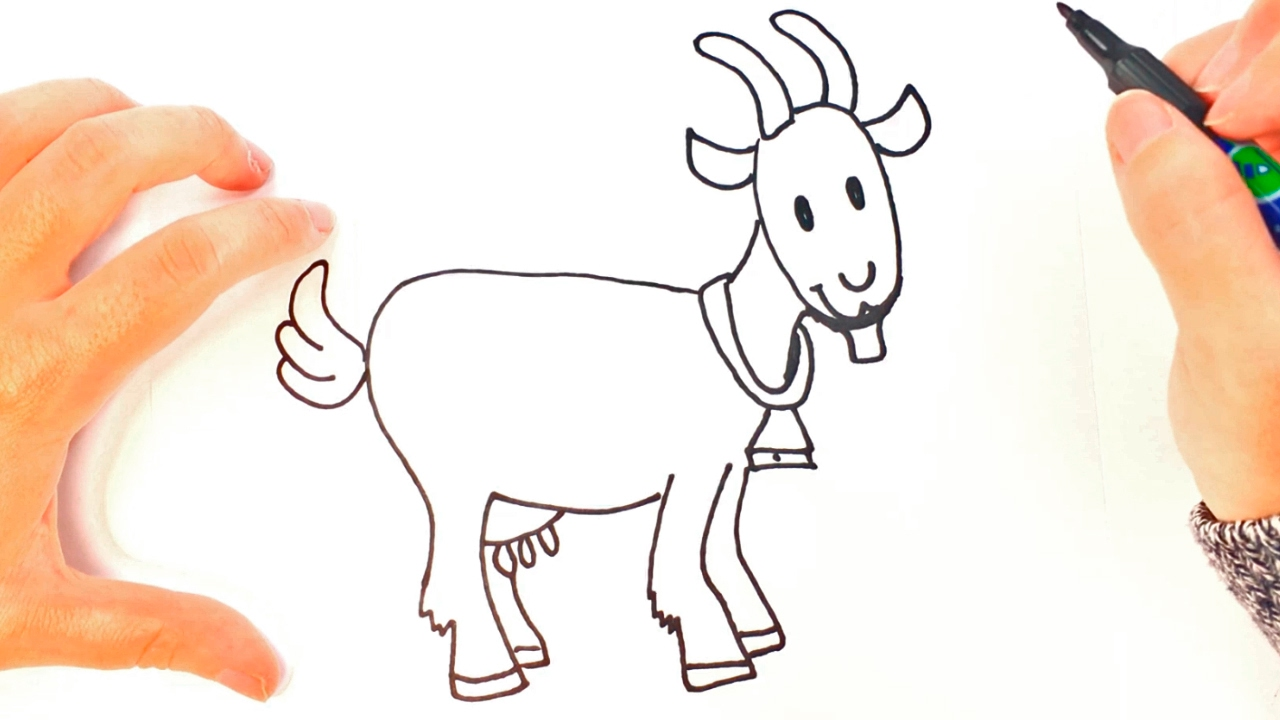 how to draw a goat for kids goat easy draw tutorial