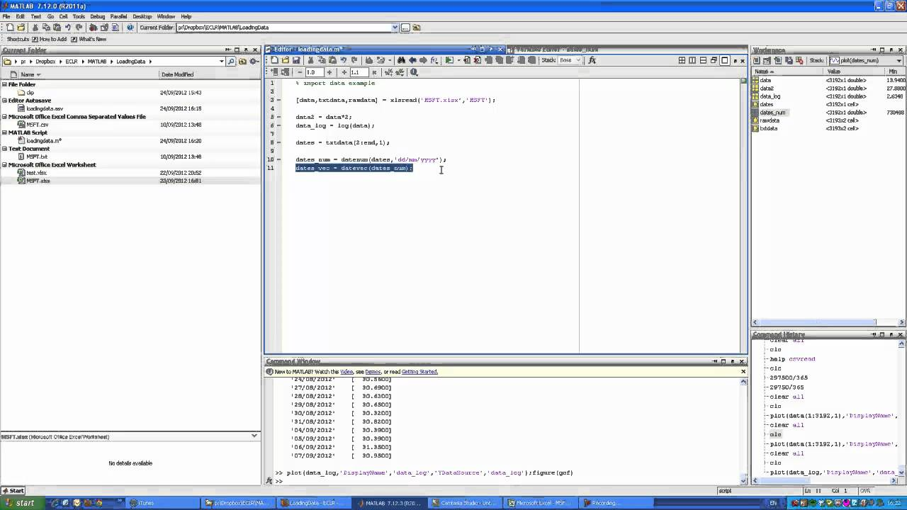 Matlab functions for reading/writing files