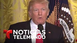 Conferencia de prensa del Presidente Donald Trump desde la Casa Blanca | Noticias Telemundo