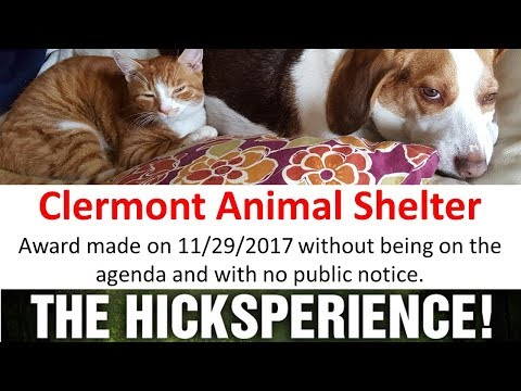 Clermont Commissioners and Animal Shelter 11/29/2017