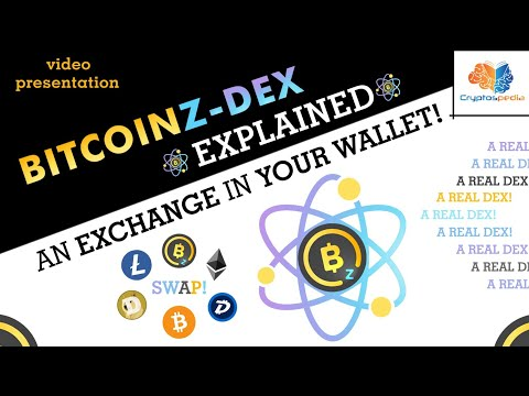 BITCOINZ DEX explained : A truly Decentralized Crypto Exchange in your wallet !