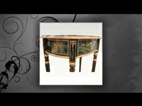 Oriental Chinese Green Artistry Furniture Table By Newquay Bonsai