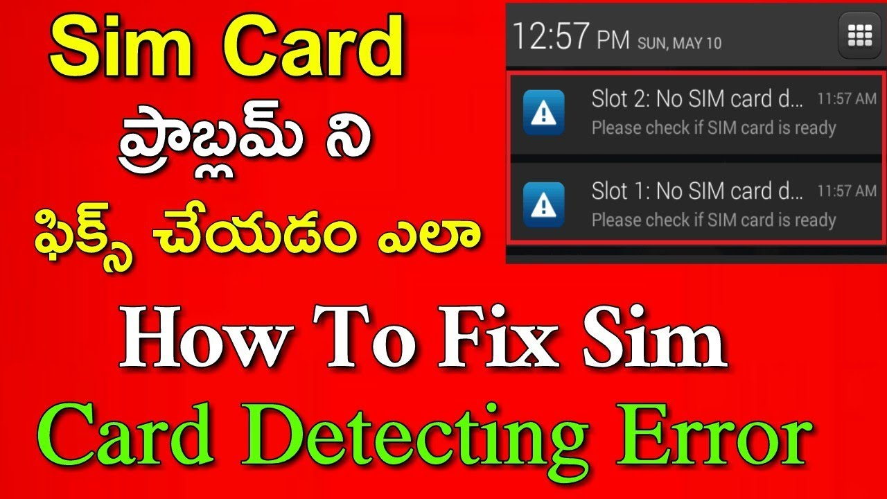 How To Fix No SIM Card Detected Error In Android Mobile In Telugu