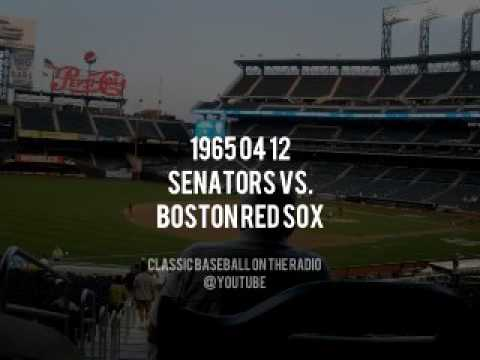 1965 04 12 Boston Red Sox vs Washington Senators (Curt Gowdy, Ned Martin) Radio Broadcast