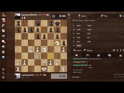Vũ khí Gambit Vua cực chất của Chess TC làm chú bé Elo 18xx xin hàng sớm