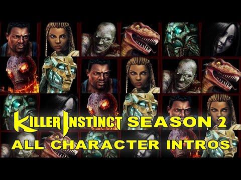 Killer Instinct - All Character Intros - Season 2
