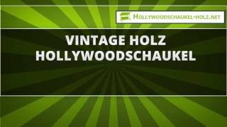 44  Vintage Holz Hollywoodschaukel