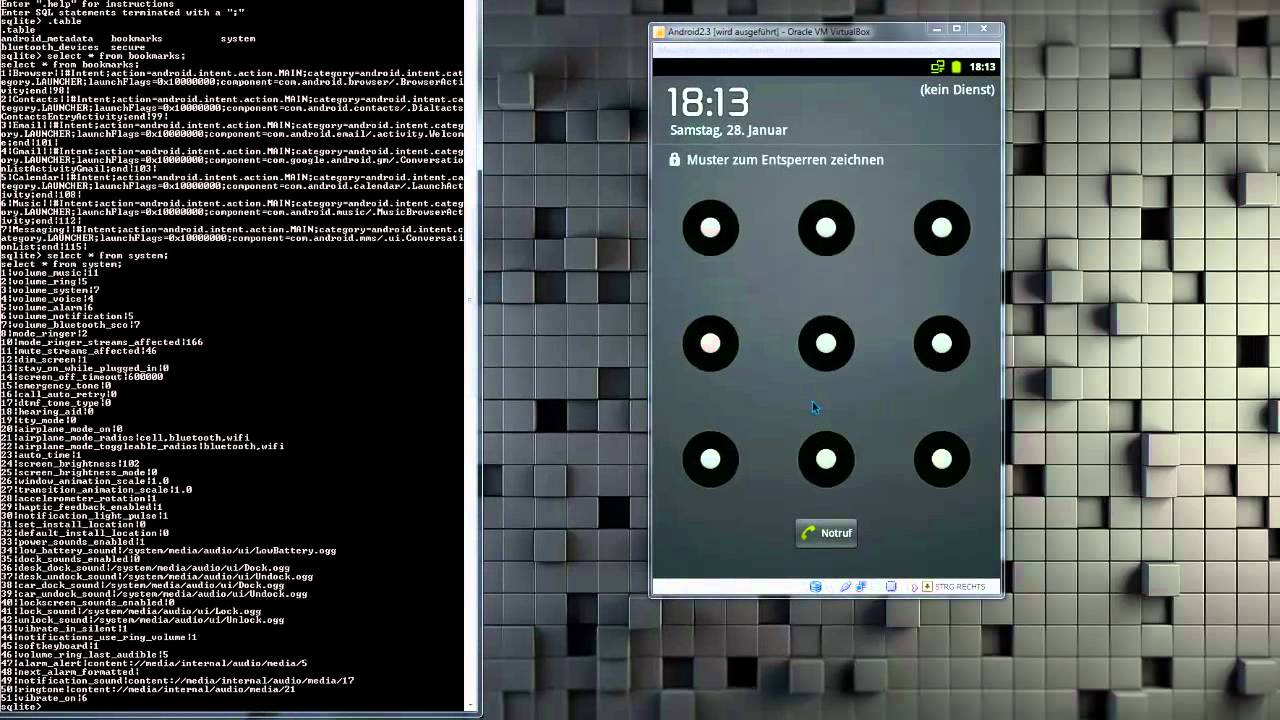 Android Hacking Muster Lockscreen Entfernen Youtube
