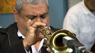 Trumpeters Ray Vega (East Coast) and Thomas Marriott (West Coast) h...